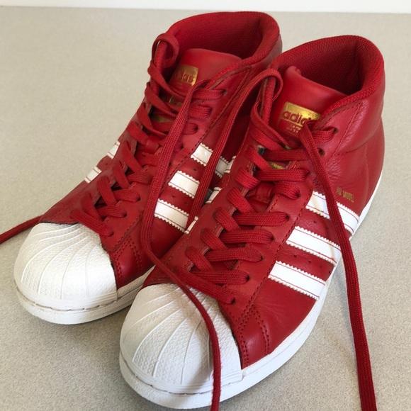 Especial ama de casa Inferir  adidas Shoes | Adidas Pro Model Size 5 Red And White High Top | Poshmark
